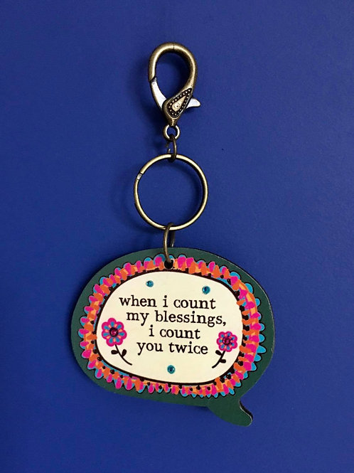 Count My Blessings Keyring