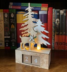 Cute wooden festive countdown