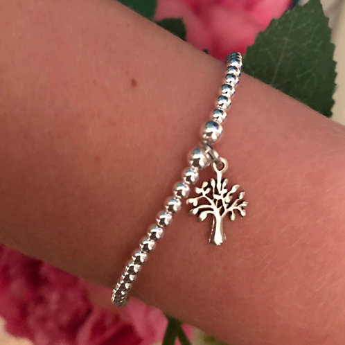 Tree of Life Sterling Silver Charm Bracelet
