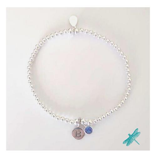 Personalised Birthstone/Initial Bracelet