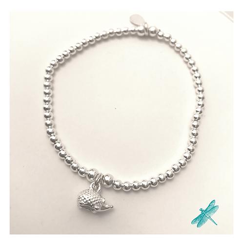 Hedgehog Charm Sterling Silver Charm Bracelet