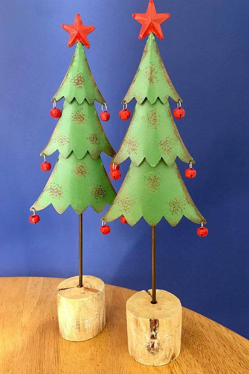 Jingle Bell Metal Christmas Tree Decoration
