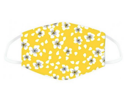 Reusable Yellow Floral Face Mask