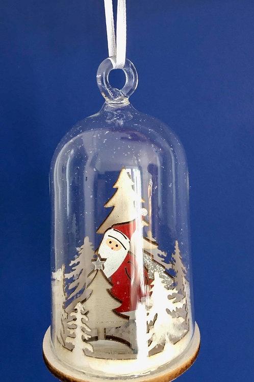 Snow Globe Cloche Hanging Decoration