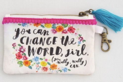 You Can Change the World Coin Purse