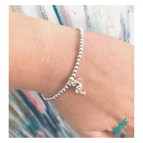 Flamingo Sterling Silver Charm Bracelet