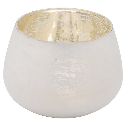 Noel Collection White Tealight Holder - Low