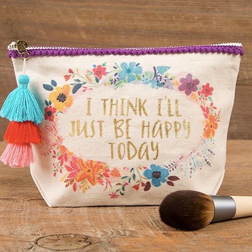 Just Be Happy Canvas Bag
