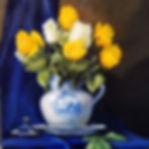 Yellow Roses on Blue Velvet.jpg