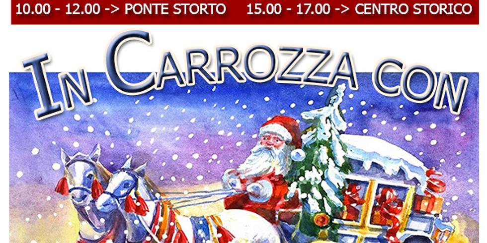 La carrozza di Babbo Natale con i suoi folletti girerà per le strade di Castelnuovo di Porto salutando i bambini!