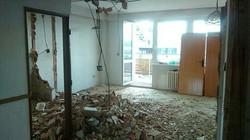 Obývací pokoj během rekonstrukce