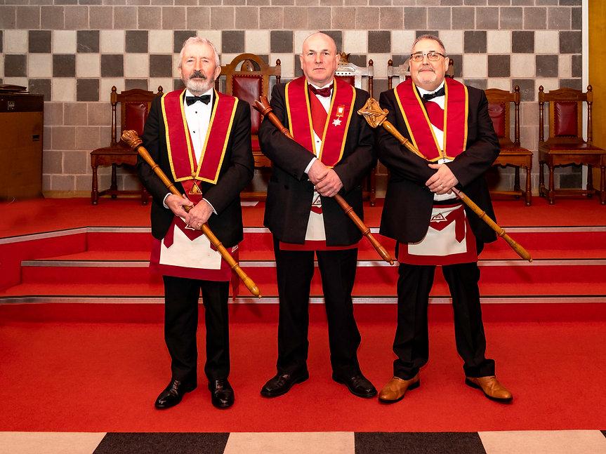 Excellent King, E.Comp. John McIlwaineIaccompanied by H.P. R.E.Comp. Joe Corr and C.S. E.Comp. Trevor Wilson