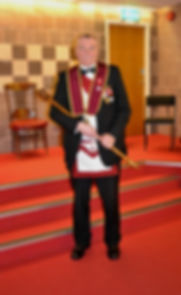 Abbey Royal Arch Chapter 180 Installation 2015: E.K Freddie Hoy pictured after the Installation ceremony.