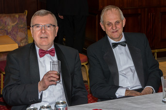 Companions relaxing and enjoying the Festive Board