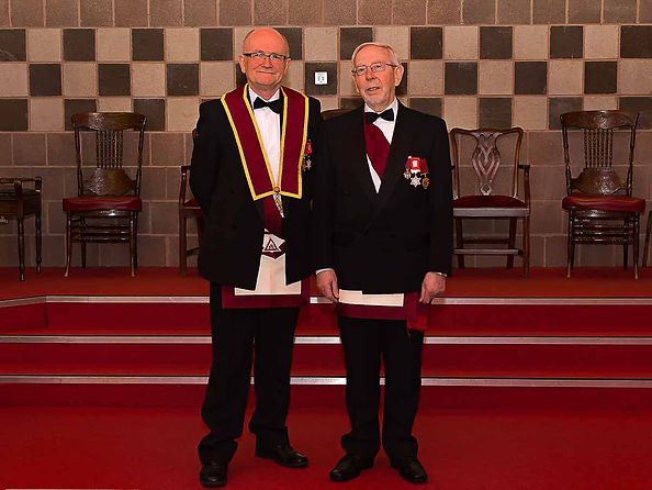 E.Comp. Alan Hunter taking over as treasurer from E.Comp. Jim McLauglin who was in this role for 20 years.