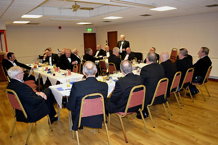 Abbey Royal Arch Chapter 180 2015: E.C.Bobby Spiers proposing the toast to the Installing Officer V.E. Companion Simon Lusty