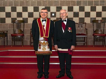 V.E.Comp. Jim Porter pictured with E.C. Jim Mclaughlin.