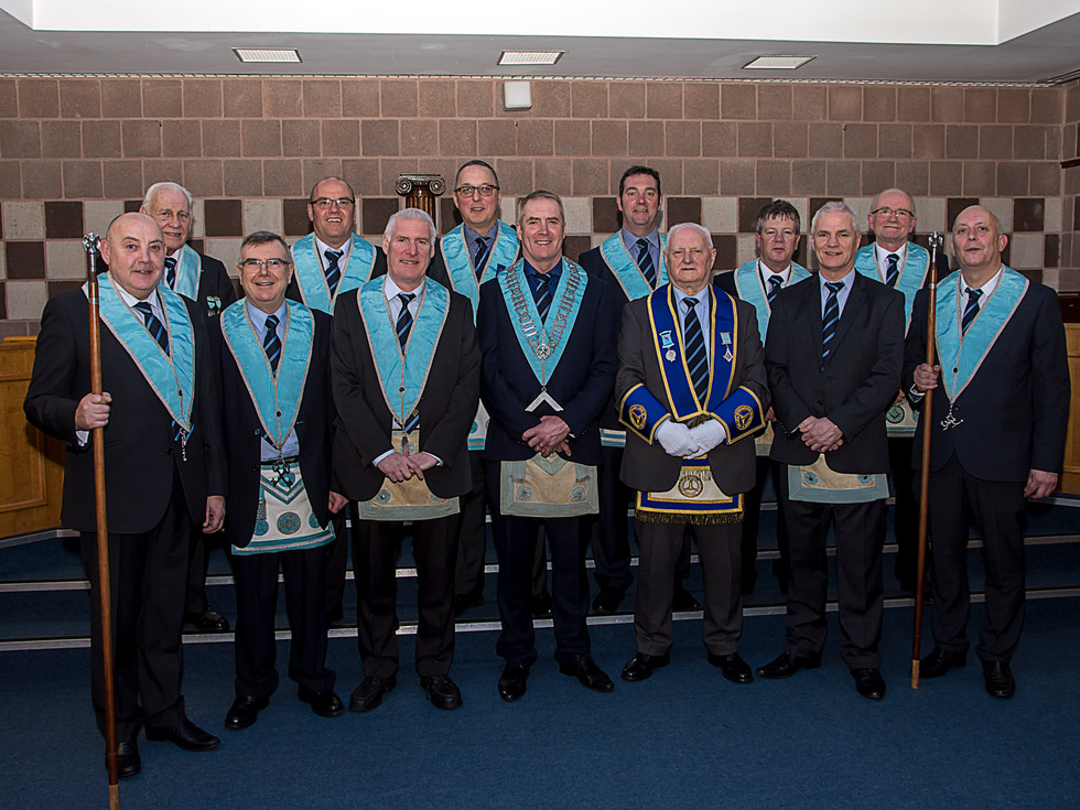 R.W.Bro Bobby Spiers pictured wearing his new regalia after being appointed as Rep. to the Most Worshipful Grand Lodge of Portugal at the Most Worshipful Grand Lodge of Ireland.