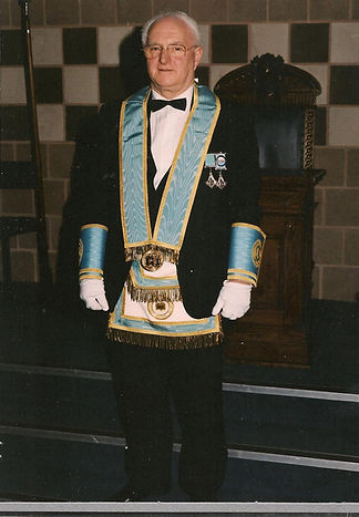 "V.Wor. Bro. Bobby Spiers, pictures in his Regalia as an ""Elected Member of the Grand Lodge of Instruction."