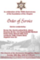 Abbey Royal Arch Chapter Order of service for their centenary celebration.