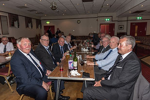 Brethren relazing after the end of the Festive Board.
