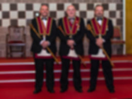 E.K. Stephen Houston accompanied by Robert Lenaghan, H.P. and Paul Coard, C.S.