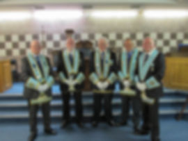 Abbey Masonic Lodge 180: Current and Past Provincial Officers, V.W.B. Bobby Spiers, EMGLI, W.B. WP Patterson PPGS, W.B. Neil Ritchie PGO, W.B. Tom Weir PGLI, W.B. PPGS.