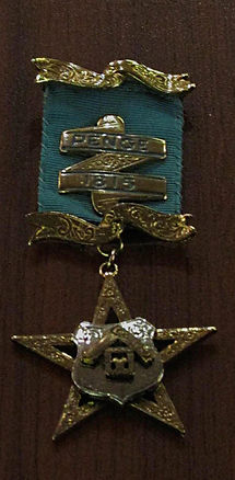 """Penge 1815"" Lodge Jewel presented to W.Bro. Stephen Bell by W.Bro. Gerry Malone."