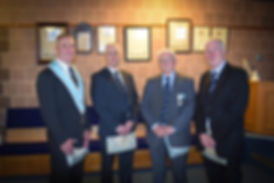 Abbey Masonic Lodge 180: V.W.Bro. Bobby Spiers accompanied by his sons Bro. Eddie Spiers, W.Bro. Gary Spiers and W.Bro. Bobby Spiers.