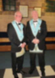 Bro. Lee Burnside with his brother, W.Bro. George Burnside.