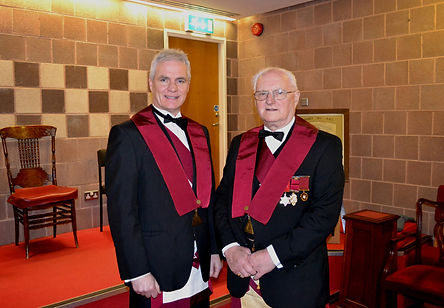 Abbey Royal Arch Chapter 180 2015: Companion Gary Spiers with his father Excellent Companion Bobby Spiers