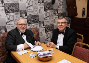 V.E. Comp. Jim Porter and Companion Hugh Blair collating the Charity subscriptions.