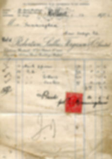 Abbey Royal Arch Chapter 180 invoice from 1906 detailing purchase of Royal Arch regalia.