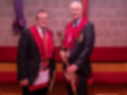 Excellent King, Gary Spiers accompanied by Comp. Terry Moore who was presented with his MMM and RA certificates.