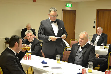 Abbey Royal Arch Chapter 180 2015: Companion Ian Eachus proposing the toast to Masonic Charities.