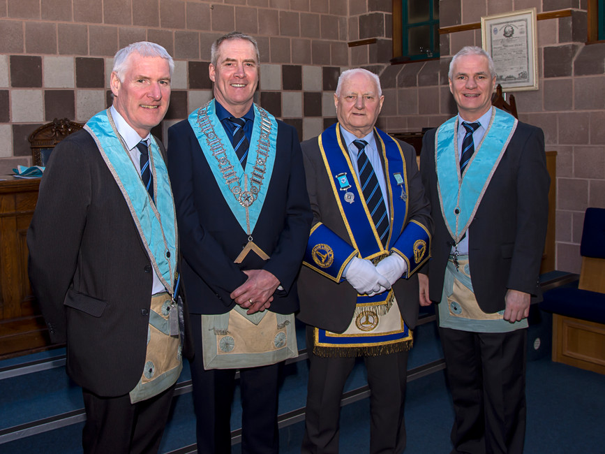 R.W. Bro. Bobby Spiers accompanied by his sons.