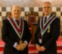 The V.W.M Gary Spiers accompanied by his father Bro. Bobby Spiers.