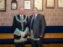 Provincial Deputy Grand Master R.W. Bro. Kenneth Doherty, accompanied by W.Bro. Marshall Duncan.