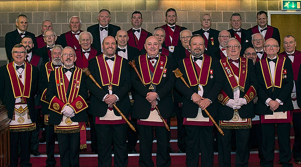 E.K. Stephen Houston accompanied by District Officers, Officers of RAC 180 and guests after his installation.