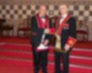 V.E.C. Simon Lusty, Installing Officercongratulating the Excellent King, Robert Lenaghan.