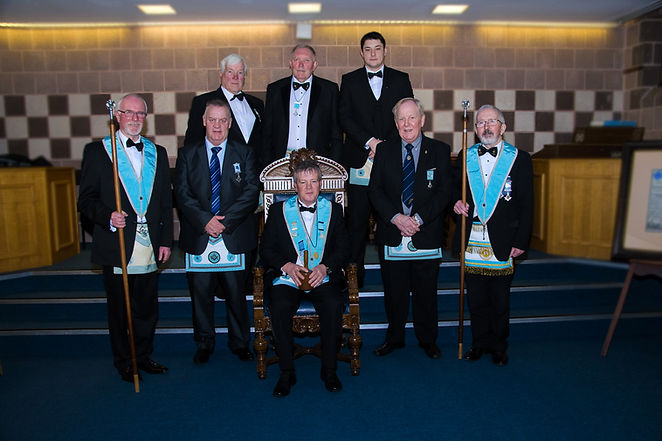 The Worshipful Master with  the visitors to Abbey 180.