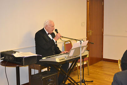 Abbey Royal Arch Chapter 180 2015:V.E.Companion Neil Ritchie entertaining the Companions with a fine melody of songs.