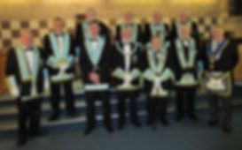 W.M.Stephen Bell accompanied by Grand and Provincial Officers from Ireland and England.