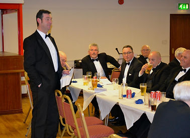 Abbey Royal Arch Chapter 180 2015: E.C. Stephen Bell proposing the toast to the new Excellent King Freddie Hoy.