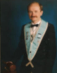 W. Bro. Alan Hunter, Abbey Masonic Lodge 180, pictured after his installation in 1989.
