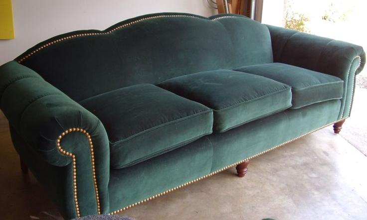 Green Cotton Velvet