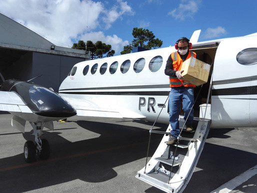 Aeronaves já transportaram 4.569 amostras para testes de coronavírus