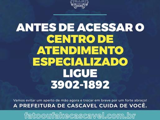 Centro de Atendimento Especializado reforça atendimento telefônico durante a pandemia da Covid-19