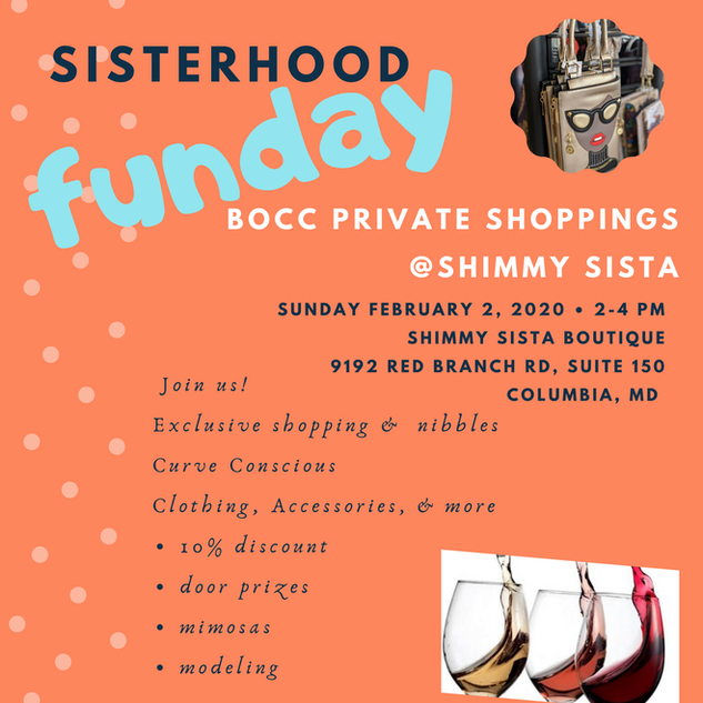BOCC Shimmy Sista Private Shopping Day 2
