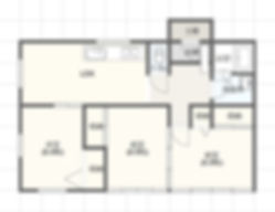 薬師前タウン,間取り,熊本市北区,貸家